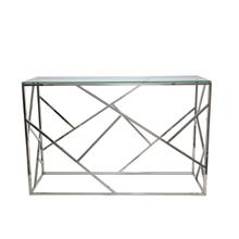 See Details - Modern Silver/glass Console Table, Kd