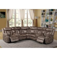 LAF CONSOLE LOVESEAT W/ 2 RECLINERS