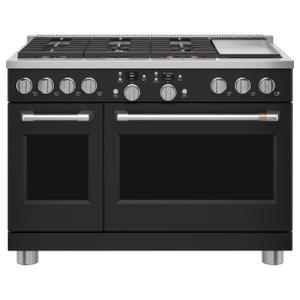 "Cafe AppliancesCafé™ 48"" Smart Dual-Fuel Commercial-Style Range with 6 Burners and Griddle (Natural Gas)"