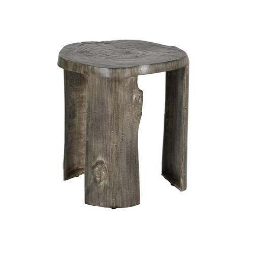 "Castelle - 17"" Nature's Wood Stump Leg Side Table"
