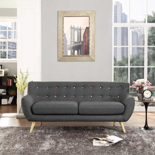 Remark Upholstered Fabric Sofa in Gray