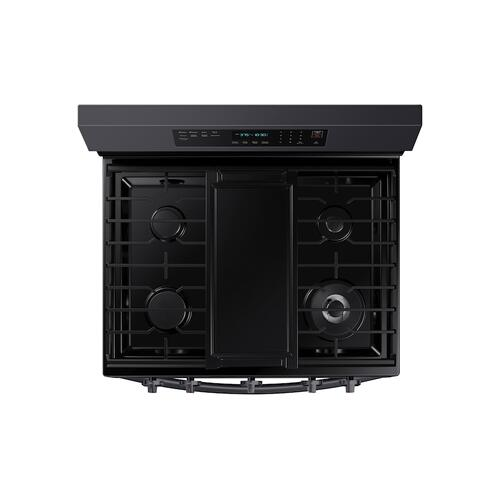 6.0 cu. ft. Smart Freestanding Gas Range with No-Preheat Air Fry and Convection+ in Black Stainless Steel