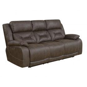 Aria Dual Power Recliner Sofa, Saddle Brown