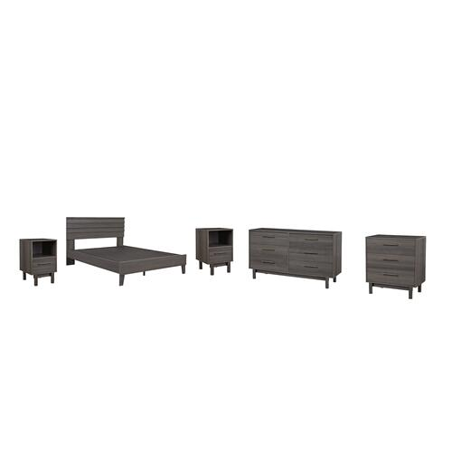 Ashley - Queen Panel Headboard With Dresser, Chest and 2 Nightstands