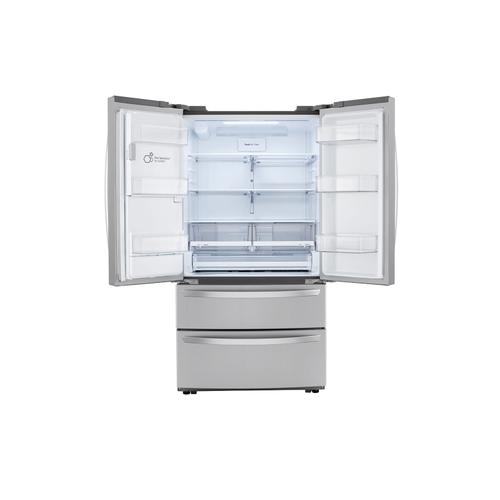 22 cu ft. Smart Counter Depth Double Freezer Refrigerator