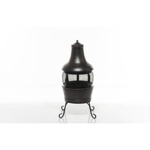 Earthenware Small Canasta Fire Pit w/ lid + stand