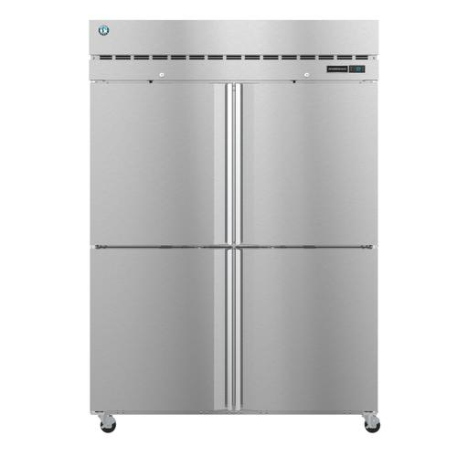 Product Image - F2A-HS, Freezer, Two Section Upright, Half Stainless Doors with Lock