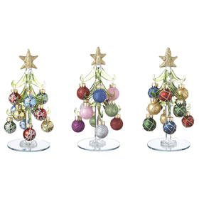 Christmas Trees with Ornaments - Sm (12 set ppk.)