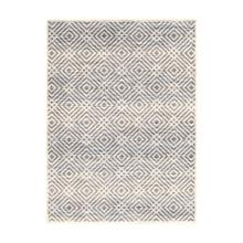 Avilla - Aged Diamonds Area Rug, Beige and Blue, 8' x 10'