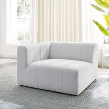 Bartlett Upholstered Fabric Left-Arm Chair in Ivory