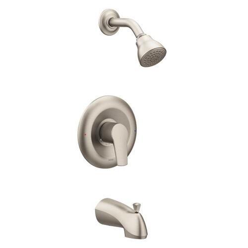 Method brushed nickel posi-temp® tub/shower