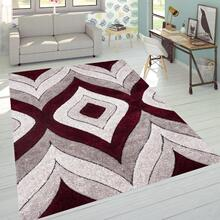 "Sorrento 721 Shag Area Rug by Rug Factory Plus - 7'6"" x 10'3"" / Red"