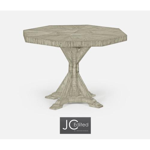 Octagonal Rustic Grey Centre Table