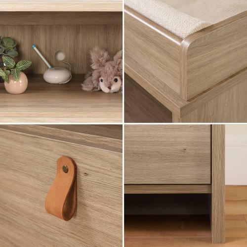 2-Drawer Changing Table - Rustic Oak