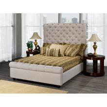 King Bed Frame Beige