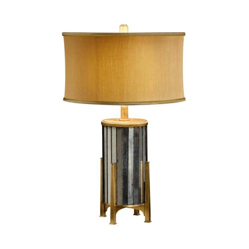 glomise and Gilded Metal Table Lamp