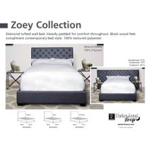 Zoey Storm Queen Bed 5/0