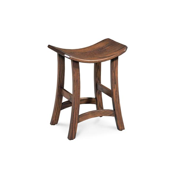 "Torii Backless Stationary Barstool, Torii Backless Stationary Barstool, 30""h, Wood Seat"