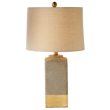 Square Table Lamp with Gold Stripe. 100W Max.