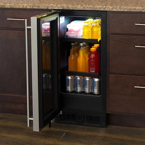 """Marvel 15"""" Beverage Center - Panel-Ready Framed Glass Door - Integrated Right Hinge (handle not included)*"""
