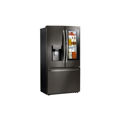 LG - 22 cu. ft. Smart wi-fi Enabled InstaView™ Door-in-Door® Counter-Depth Refrigerator
