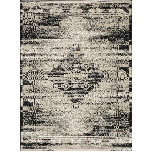 "Zephyr Cella Black 2' 4""x7' 10"" Runner"