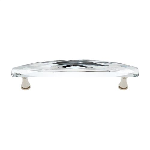 Polished Nickel 128 mm Wide Crystal Pull