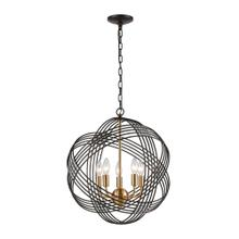 Concentric 5-Light Chandelier in Oil Rubbed Bronze with Clear Crystal Beads