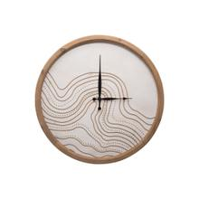 See Details - Routed River Wall Clock