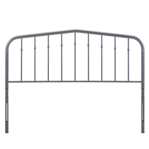 Lennon Twin Metal Headboard in Gray