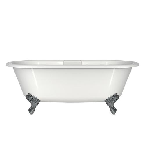Product Image - Cheshire 68-5/8 Inch X 31-3/8 Inch Freestanding Soaking Bathtub in Volcanic Limestone™ with Overflow Hole - Gloss White