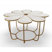 Flower Marble Coffee Table