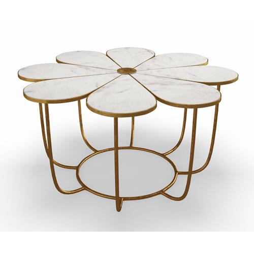 Tov Furniture - Flower Marble Coffee Table