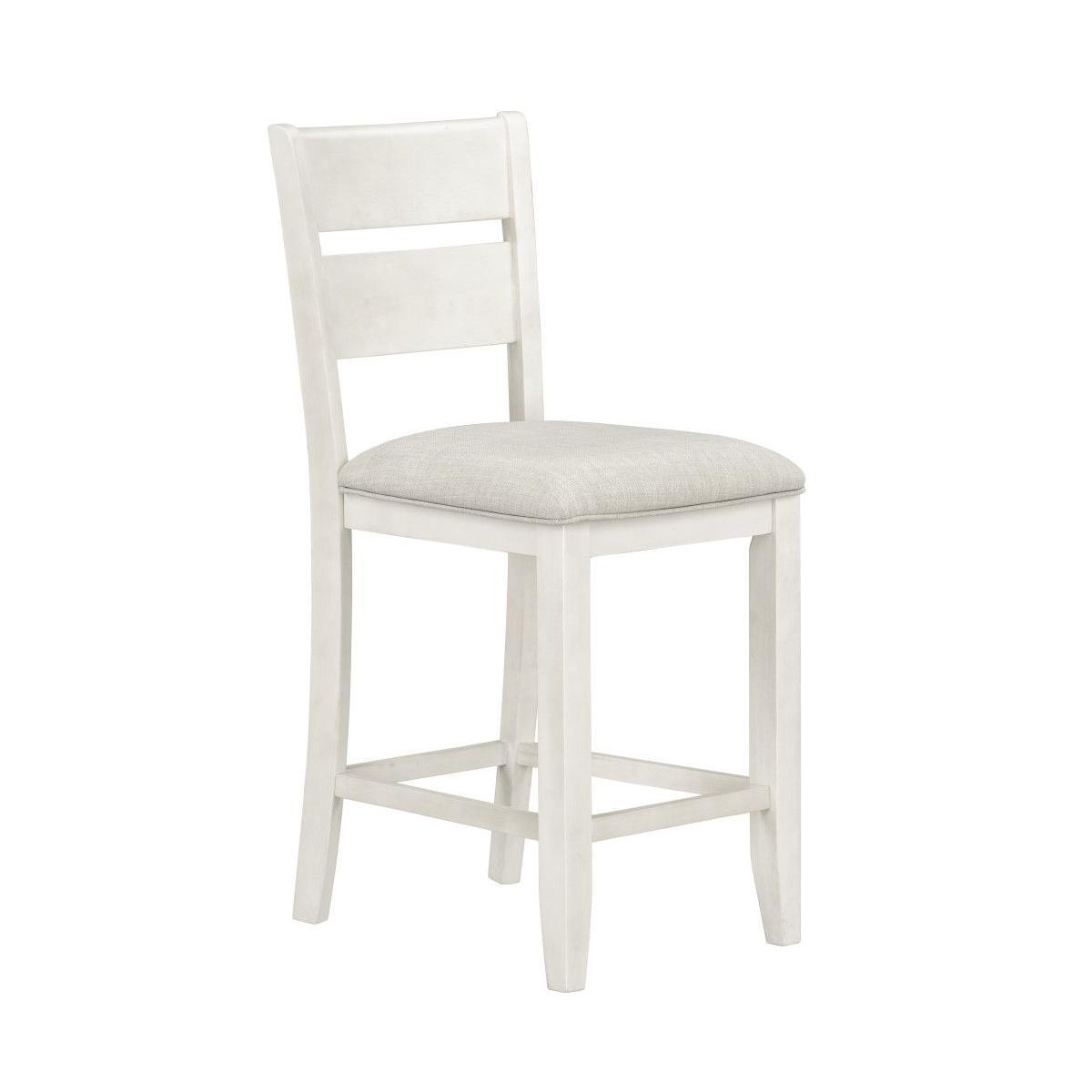 Kyle Light 2-Pack Counter Height Upholstered Barstool, White