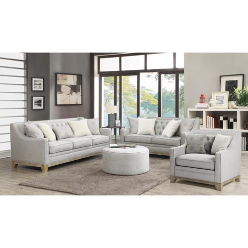 Jaizel Sofa W/ 4 Accent Pillows and 1 Kidney Pillow Gray