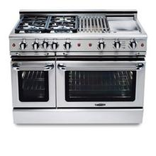 "48"" four burner gas self-clean range w/ 24"" Thermo-Griddle™ + convection oven - LP"