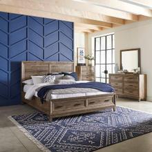 King Storage Bed, Dresser & Mirror, Chest