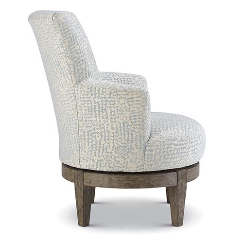 JUSTINE Swivel Barrel Chair