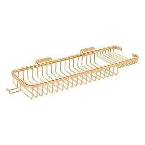 "Wire Basket 17-3/8"", Rectangular Deep & Shallow, With Hook - PVD Polished Brass Product Image"