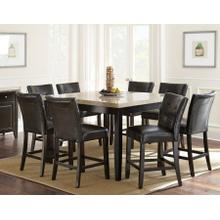 Monarch 9 Piece Marble Top Counter Set(Counter Table & 8 Counter Chairs)