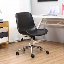 Nordland Faux Leather Upholstery Adjustable Swivel Office Chair, Black