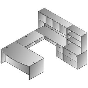 Napa U Shape W/hutch + Storage 107x113