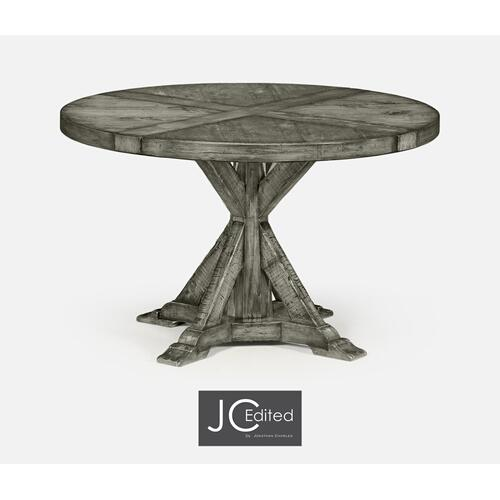 "48"" Antique Dark Grey Circular Dining Table"