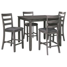 See Details - Bridson Counter Height Dining Table and Bar Stools (set of 5)