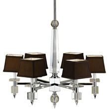 AF Lighting 6685 6-Light Crystal Chandelier, 6685-6H