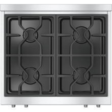 RangeTop with 4 burners for professional applications