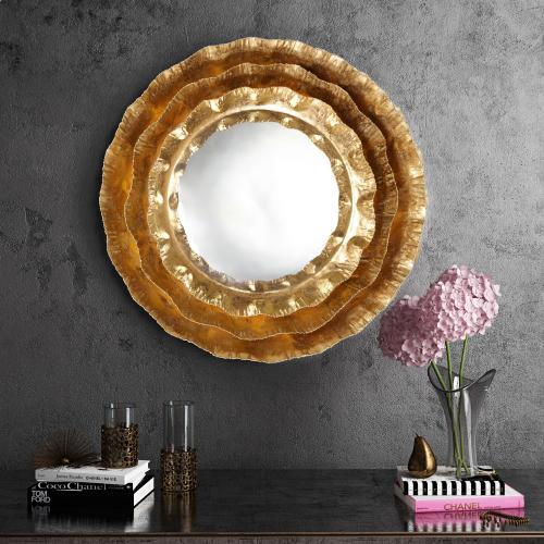 Tov Furniture - Petal Gold Mirror
