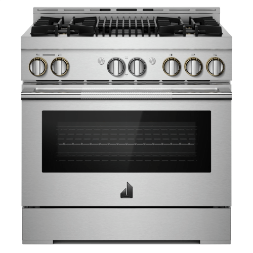 """36"""" RISE™ Gas Professional-Style Range with Infrared Grill"""