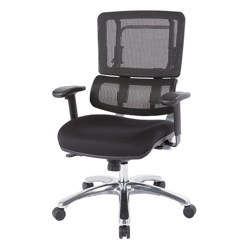 Vertical Black Mesh Chair