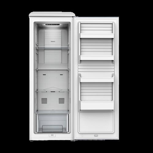 Galanz - Galanz 11.0 Cu Ft Retro Upright Freezer in Milkshake White